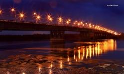 Ленинградский мост ночью