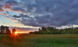 Уходящий летний день в селе Давыдовка
