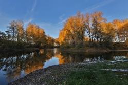 Безымянное озеро недалеко от села Лежанка Омской области