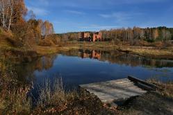 Река Березовка, Муромцевский район, с. Петропавловка